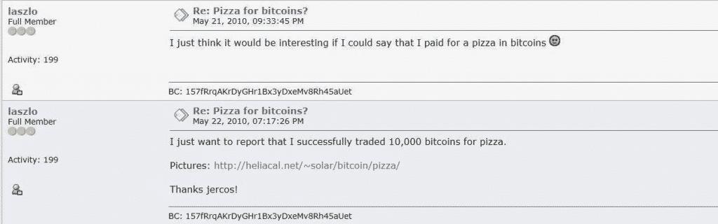 Capture écran forum Bitcointalk